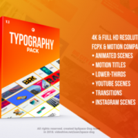 VIDEOHIVE TYPOGRAPHY PACK PRO | FCPX – APPLE MOTION