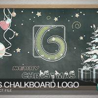 VIDEOHIVE CHRISTMAS CHALKBOARD LOGO