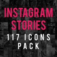 VIDEOHIVE INSTAGRAM STORIES ICONS PACK