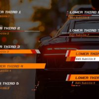 VIDEOHIVE RACER LOWER THIRDS