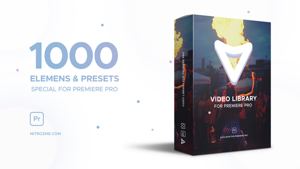 VIDEOHIVE VIDEO LIBRARY - PREMIERE PRO - Free After Effects Template