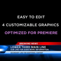 VIDEOHIVE BROADCAST NEWS LOWER THIRDS | MOGRT – PREMIERE PRO