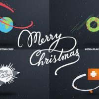 VIDEOHIVE CHRISTMAS CARD CARTOON