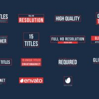 VIDEOHIVE 15 GLITCH TITLES