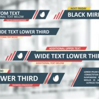 VIDEOHIVE FLAT LINES LOWER THIRDS