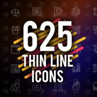 VIDEOHIVE 625 THIN LINE ICONS