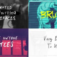 VIDEOHIVE BRUSH-ANIMATED HANDWRITTEN TYPEFACES