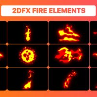 VIDEOHIVE HAND DRAWN FIRE ELEMENTS PACK