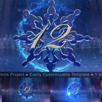 VIDEOHIVE NEW YEAR SNOWFLAKE COUNTDOWN 2019
