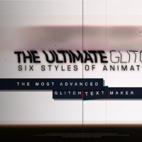 VIDEOHIVE THE ULTIMATE GLITCH TEXT MAKER + 70 TITLE ANIMATION PRESETS PACK