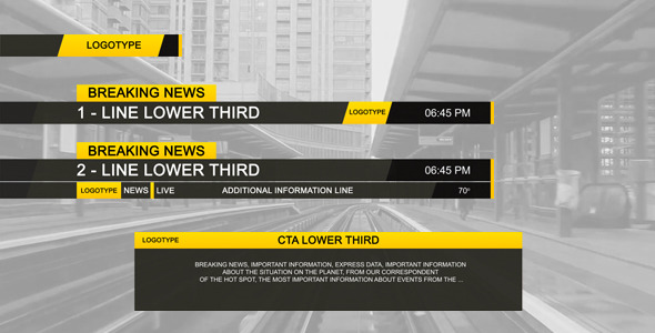 VIDEOHIVE LOWER THIRD BLACK - Free After Effects Template