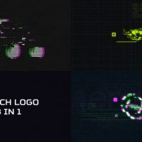 VIDEOHIVE GLITCH LOGO 3 IN 1