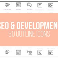 VIDEOHIVE SEO OPTIMIZATION – 50 THIN LINE ICONS