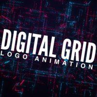 VIDEOHIVE DIGITAL GRID LOGO ANIMATION