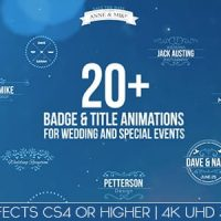 VIDEOHIVE BADGES / TITLE ANIMATIONS FOR WEDDING AND SPECIAL EVENTS