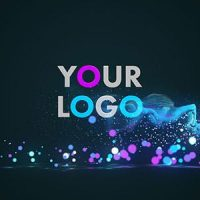 VIDEOHIVE GLOW PARTICLES LOGO 19477047