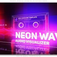 VIDEOHIVE NEON WAVE AUDIO VISUALIZER