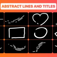 VIDEOHIVE ABSTRACT LINES AND TITLES