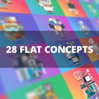 VIDEOHIVE BUNDLE BUSINESS FLAT CONCEPTS