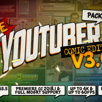 VIDEOHIVE THE YOUTUBER PACK – COMIC EDITION V3.0 [UPDATE 17 DECEMBER 18]