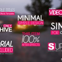 QUICK SIMPLE TITLE OPENERS – AFTER EFFECTS PROJECT (VIDEOHIVE)