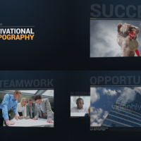 VIDEOHIVE MOTIVATIONAL TYPOGRAPHY OPENER