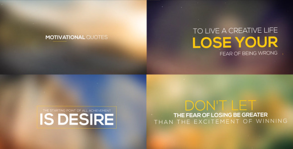 VIDEOHIVE MOTIVATIONAL QUOTES COLLECTION   Free After Effects