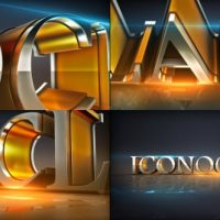 VIDEOHIVE SHINY ELEMENT TEXT LOGO OPENER