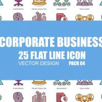 VIDEOHIVE CORPORATE BUSINESS – FLAT ANIMATION ICONS