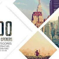VIDEOHIVE 100 CLEAN PHOTO OPENERS – LOGO REVEAL PACK
