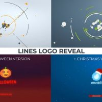 VIDEOHIVE LINES LOGO REVEAL. +CHRISTMAS/HALLOWEEN VER