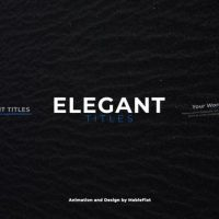 VIDEOHIVE ELEGANT TITLES 21196068