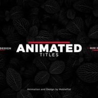 VIDEOHIVE ANIMATED TITLES PACK