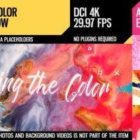 VIDEOHIVE BRING THE COLOR (4K INK SLIDESHOW)