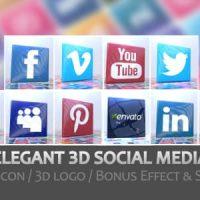 VIDEOHIVE ELEGANT 3D SOCIAL MEDIA