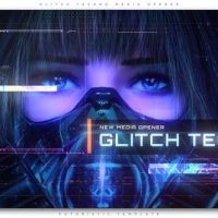 VIDEOHIVE GLITCH TECHNO MEDIA OPENER