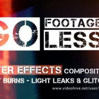 VIDEOHIVE GO FOOTAGELESS! – LIGHT BURNS & GLITCH AE COMPS