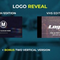 VIDEOHIVE LOGO REVEAL – VHS & GLITCH EDITION – PREMIERE PRO