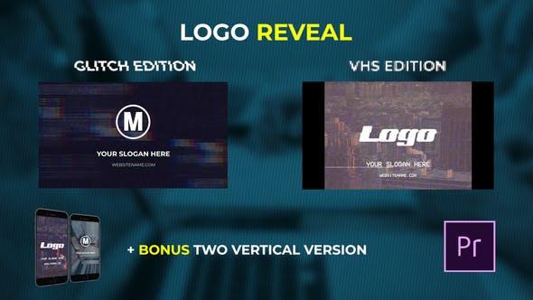 VIDEOHIVE LOGO REVEAL - VHS & GLITCH EDITION - PREMIERE PRO - Free