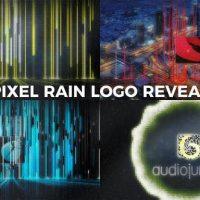 VIDEOHIVE PIXEL RAIN LOGO REVEAL