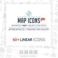 VIDEOHIVE MAP LINEAR ICON PACK – PREMIERE PRO