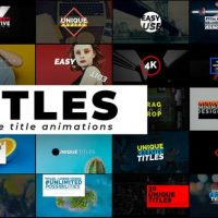 VIDEOHIVE CREATIVE TITLES – AUTO RESIZING TITLES AND LOWER THIRDS