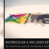 VIDEOHIVE WATERCOLOR & INK LOGO REVEAL