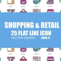VIDEOHIVE SHOPING AND RETAIL – FLAT ANIMATION ICONS