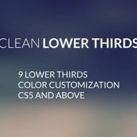 VIDEOHIVE CLEAN LOWERTHIRDS