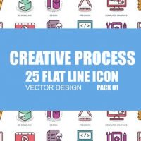 VIDEOHIVE CREATIVE PROCESS – FLAT ANIMATION ICONS