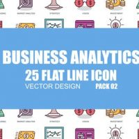 VIDEOHIVE BUSINESS ANALYTICS – FLAT ANIMATION ICONS