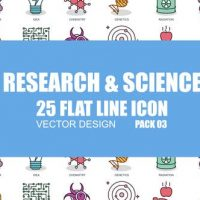 VIDEOHIVE RESEARCH AND SCIENCE – FLAT ANIMATION ICONS