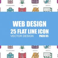 VIDEOHIVE WEB DESIGN – FLAT ANIMATION ICONS