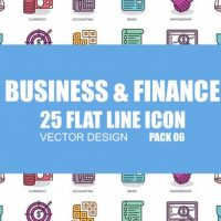 VIDEOHIVE BUSINESS AND FINANCE – FLAT ANIMATION ICONS